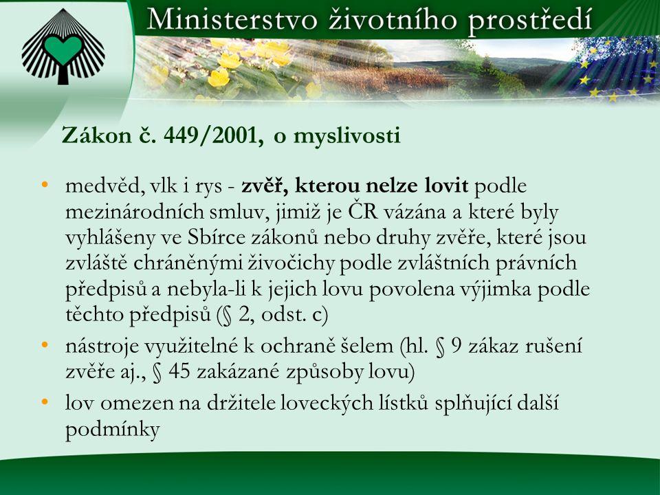 Zákon č. 449/2001, o myslivosti