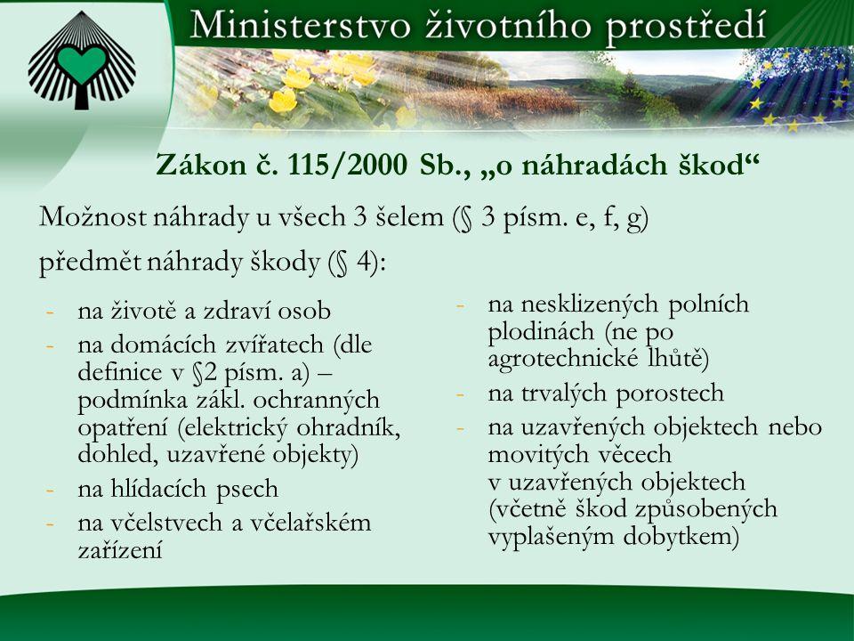 """Zákon č. 115/2000 Sb., """"o náhradách škod"""