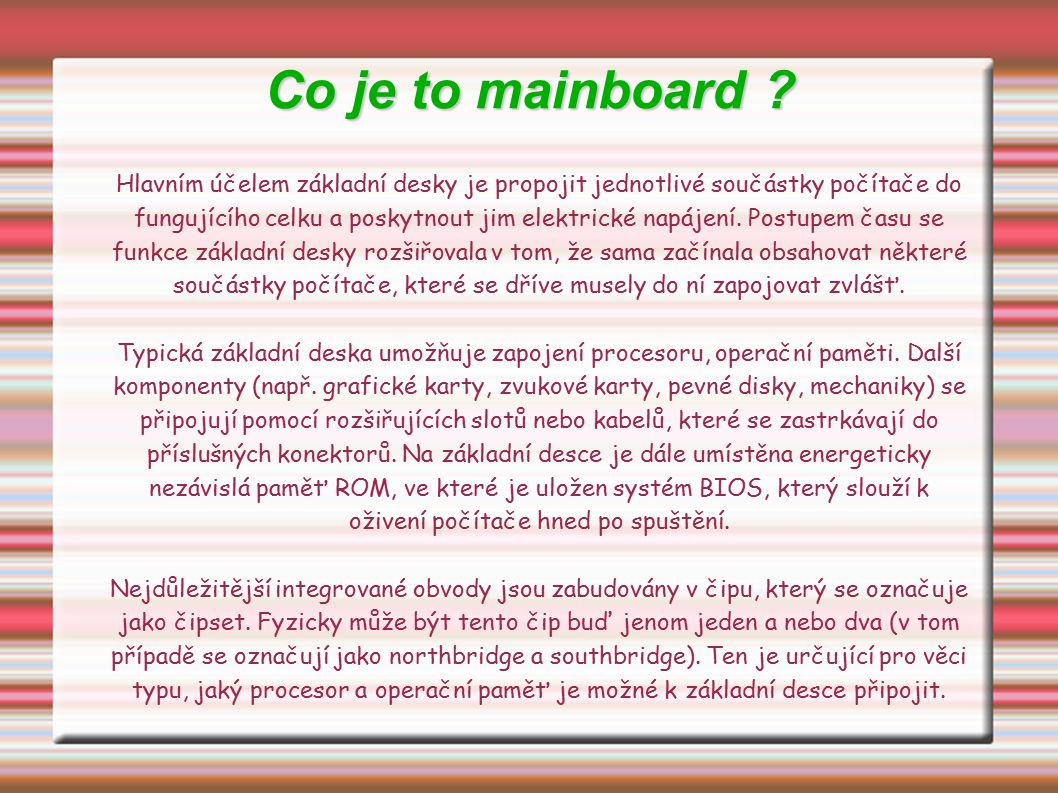 Co je to mainboard