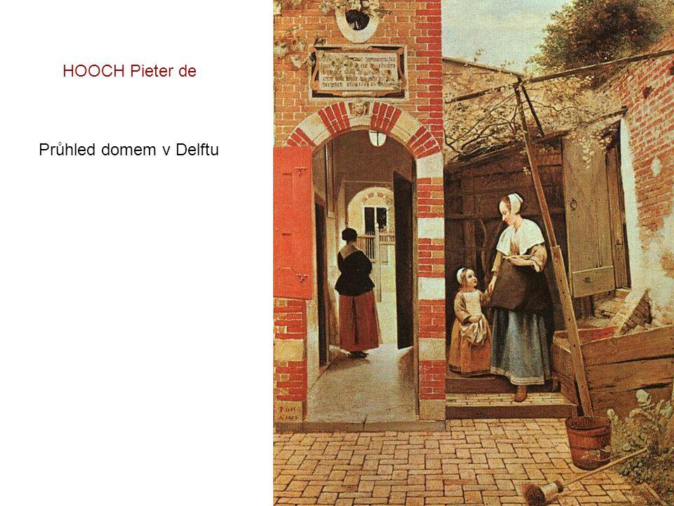 HOOCH Pieter de Průhled domem v Delftu