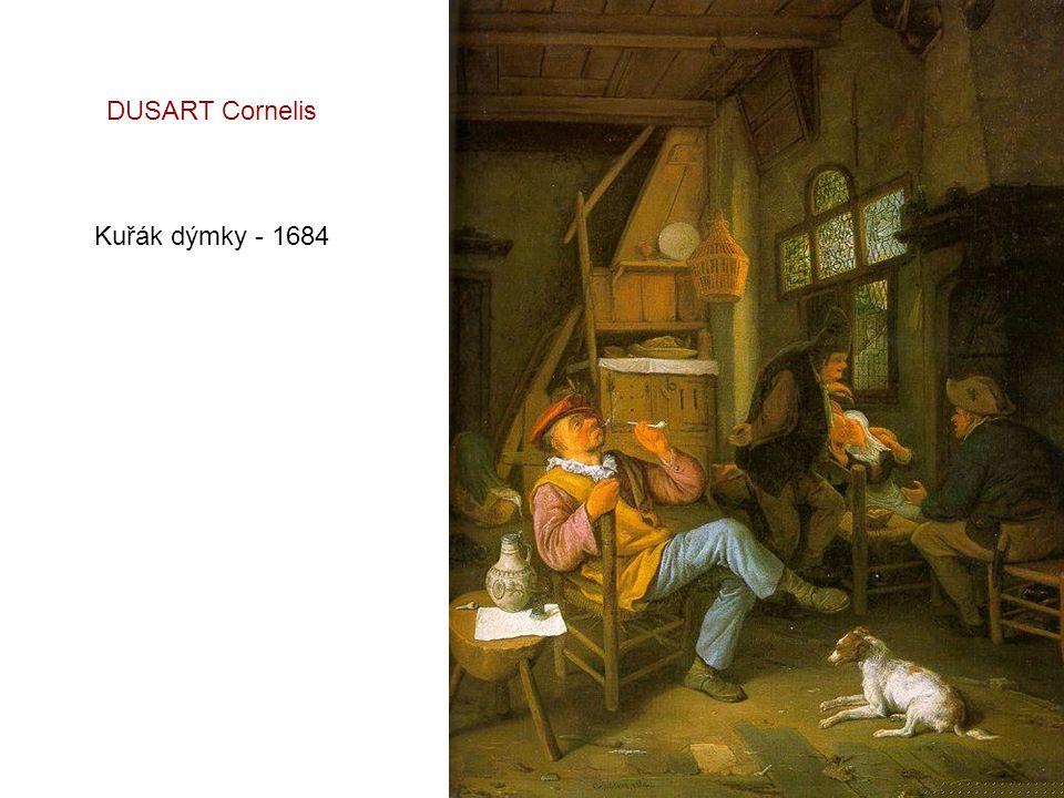 DUSART Cornelis Kuřák dýmky - 1684
