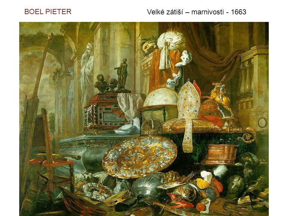 BOEL PIETER Velké zátiší – marnivosti - 1663