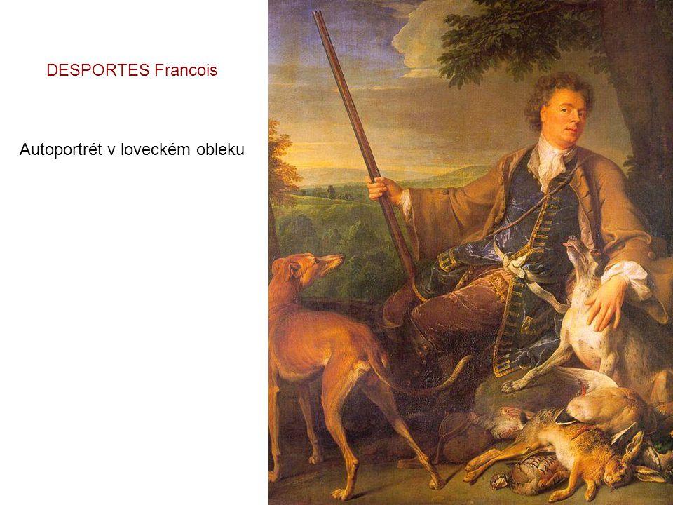DESPORTES Francois Autoportrét v loveckém obleku