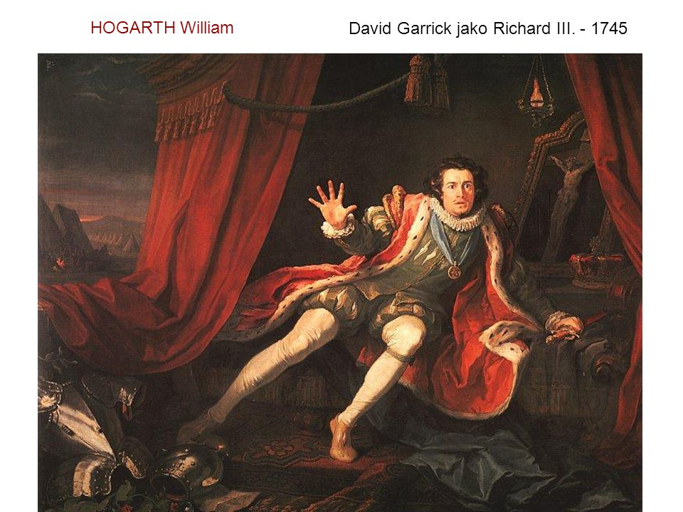 HOGARTH William David Garrick jako Richard III. - 1745