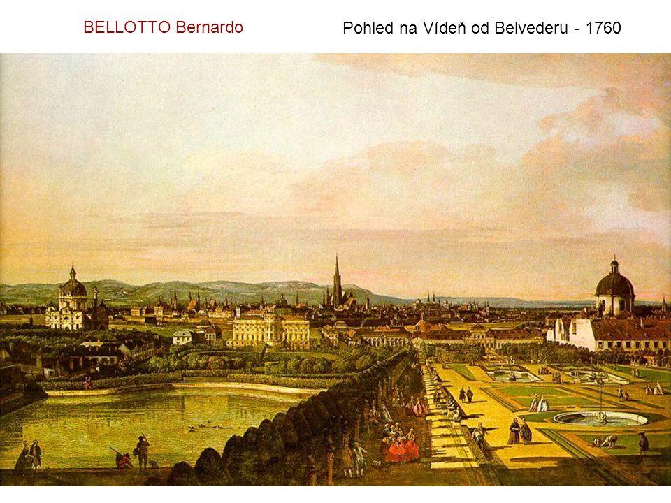 BELLOTTO Bernardo Pohled na Vídeň od Belvederu - 1760