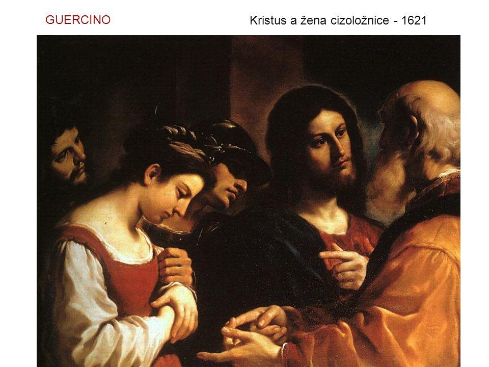 GUERCINO Kristus a žena cizoložnice - 1621