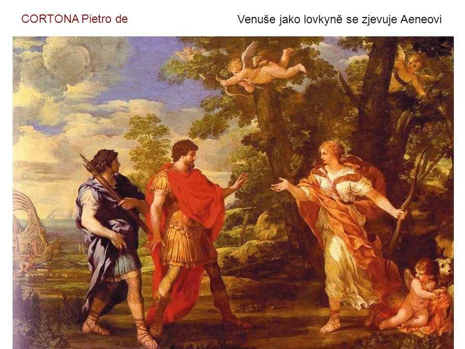 CORTONA Pietro de Venuše jako lovkyně se zjevuje Aeneovi
