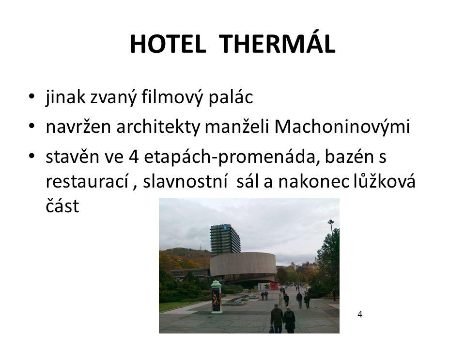 HOTEL THERMÁL jinak zvaný filmový palác