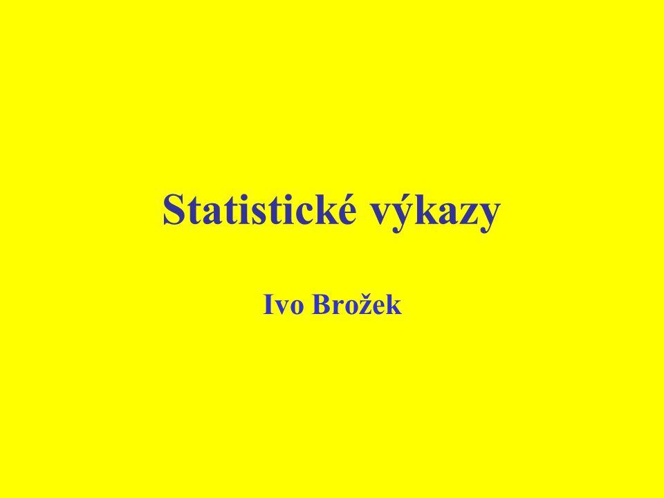 Statistické výkazy Ivo Brožek