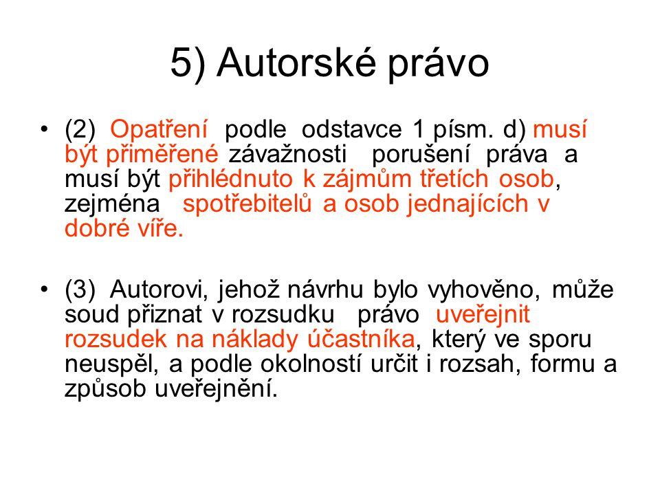 5) Autorské právo