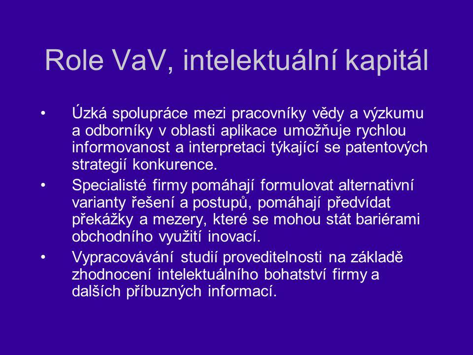 Role VaV, intelektuální kapitál