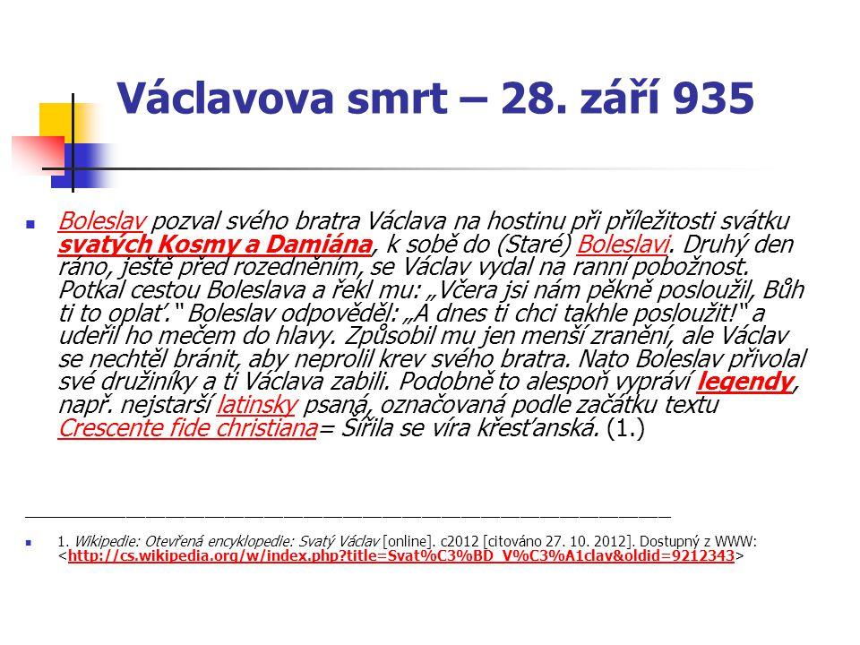 Václavova smrt – 28. září 935