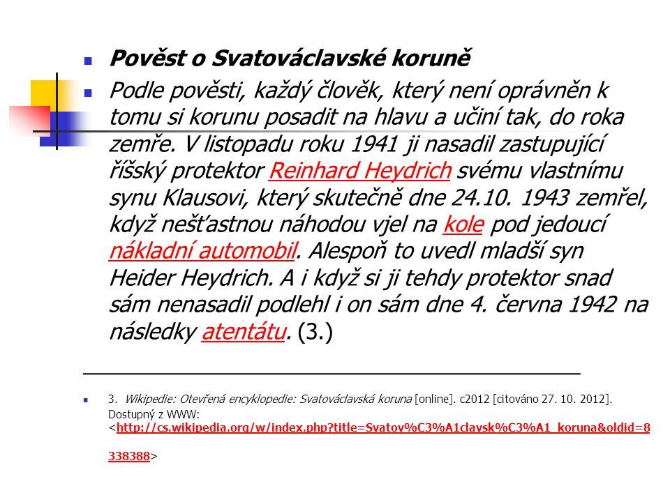 Pověst o Svatováclavské koruně