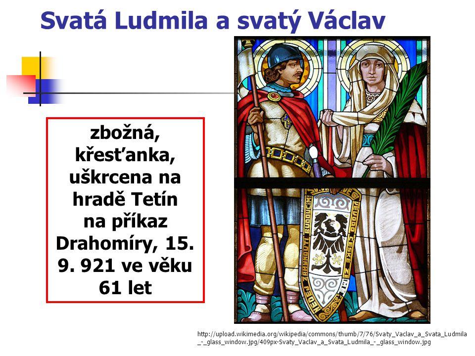 Svatá Ludmila a svatý Václav