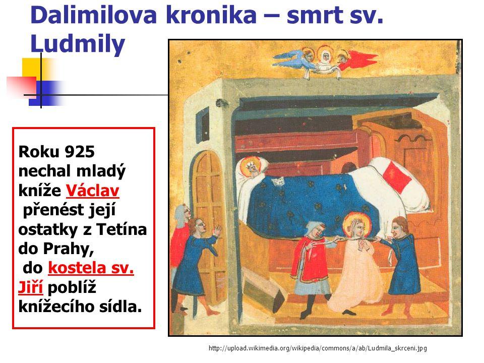 Dalimilova kronika – smrt sv. Ludmily