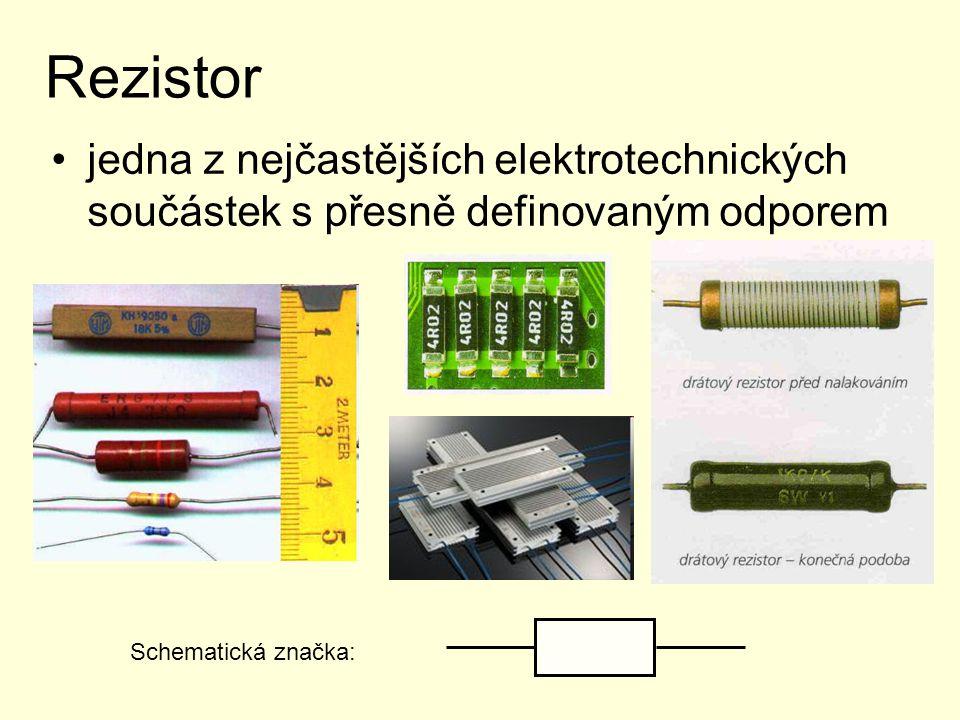 Rezistor jedna z nejčastějších elektrotechnických součástek s přesně definovaným odporem.