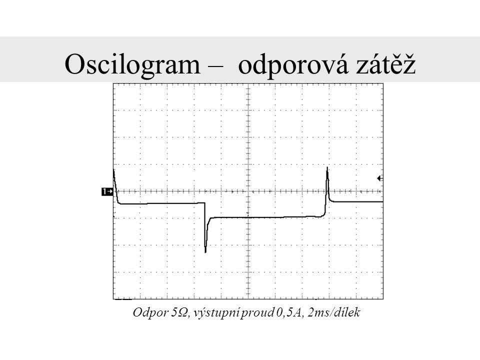 Oscilogram – odporová zátěž