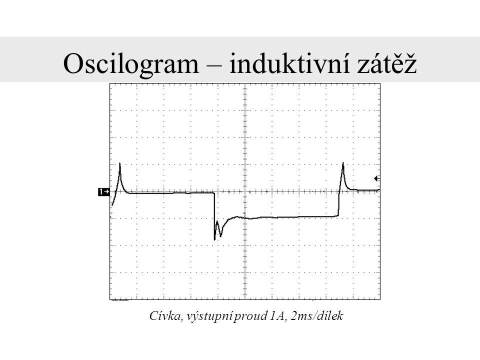 Oscilogram – induktivní zátěž