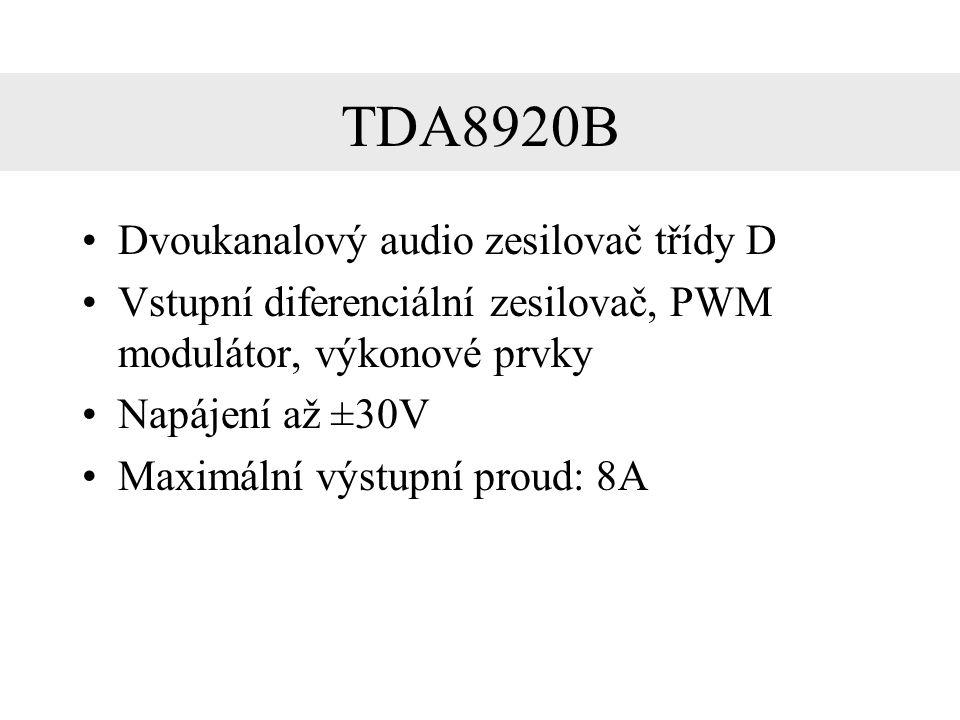 TDA8920B Dvoukanalový audio zesilovač třídy D