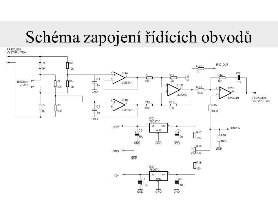 Schéma zapojení řídících obvodů