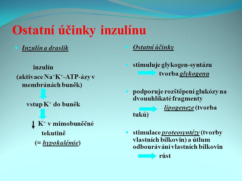 Ostatní účinky inzulínu