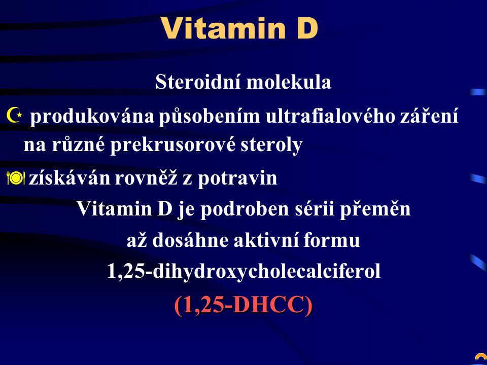 Vitamin D (1,25-DHCC) Steroidní molekula