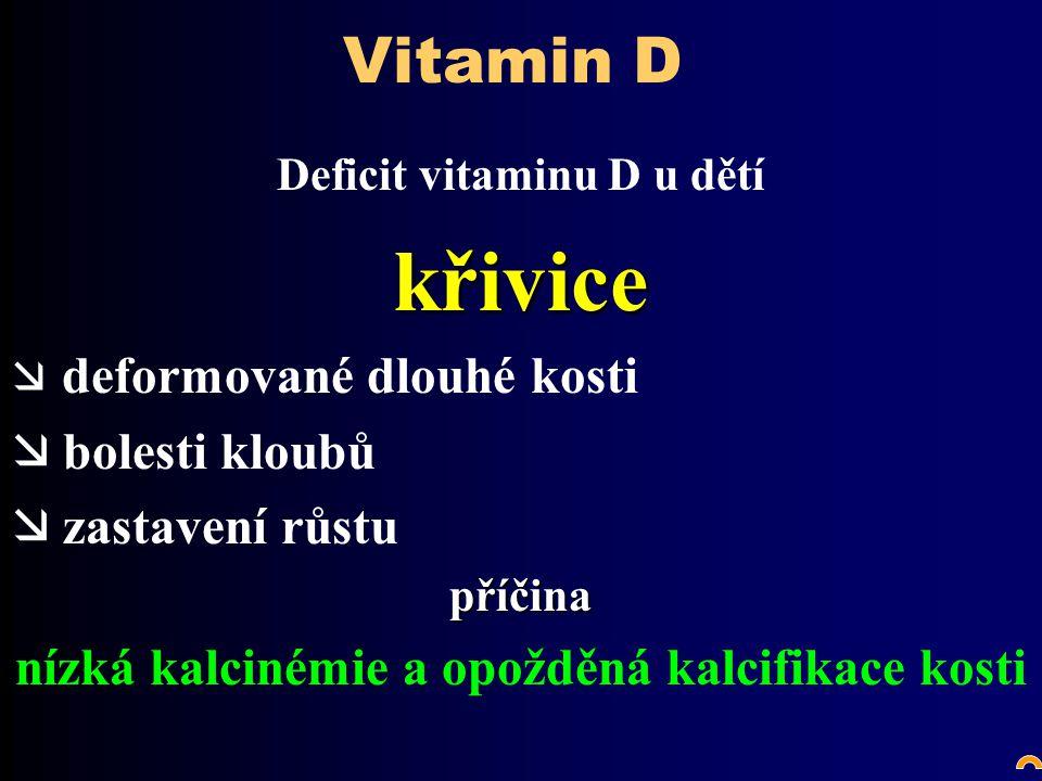 křivice Vitamin D bolesti kloubů zastavení růstu