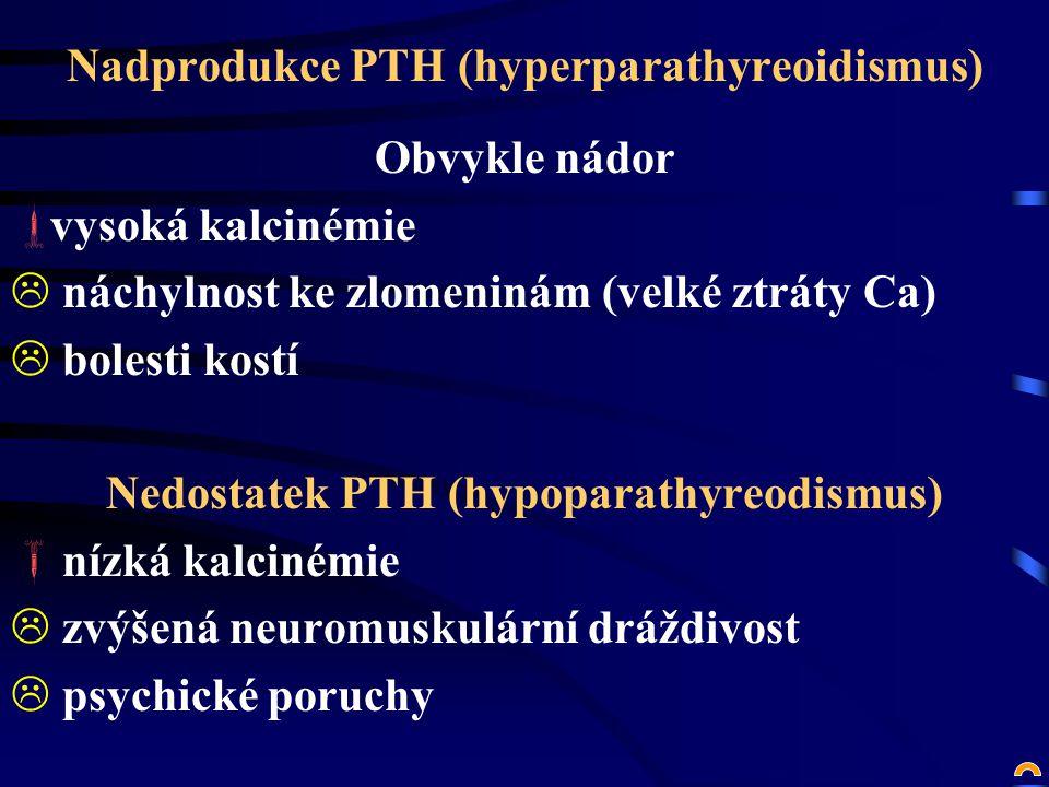 Nadprodukce PTH (hyperparathyreoidismus)