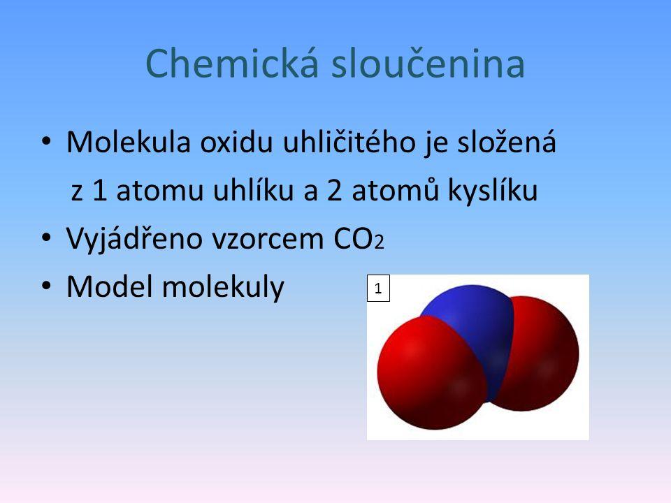 Chemická sloučenina Molekula oxidu uhličitého je složená