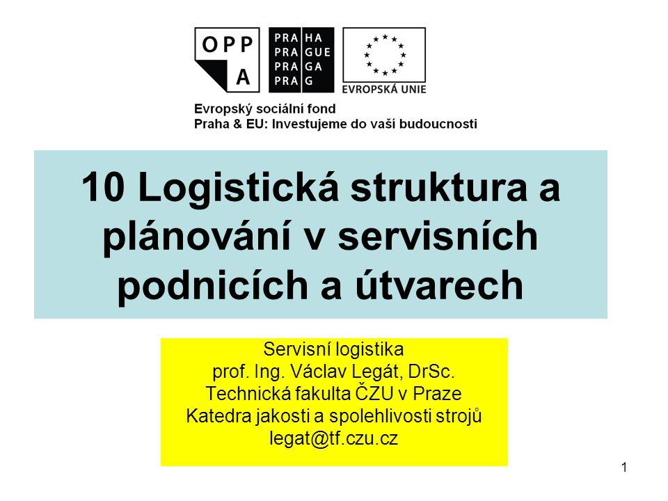 10 Logistická struktura a plánování v servisních podnicích a útvarech