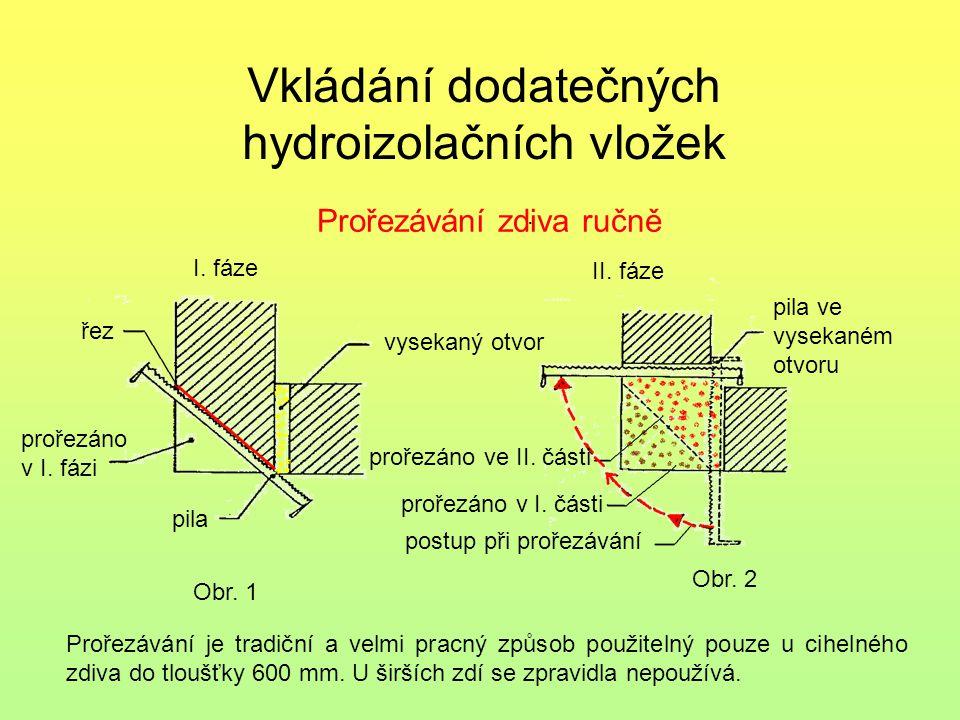 Vkládání dodatečných hydroizolačních vložek