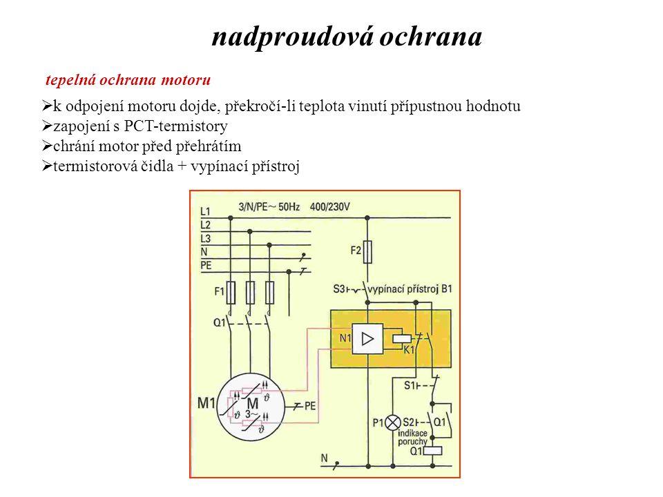 nadproudová ochrana tepelná ochrana motoru