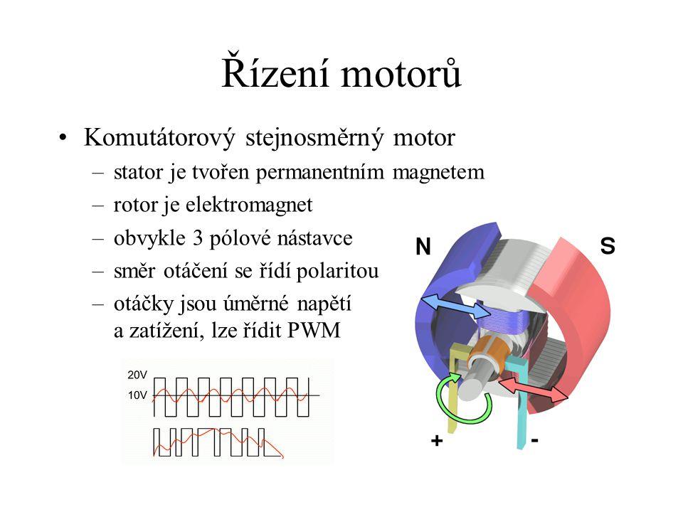 Řízení motorů Komutátorový stejnosměrný motor