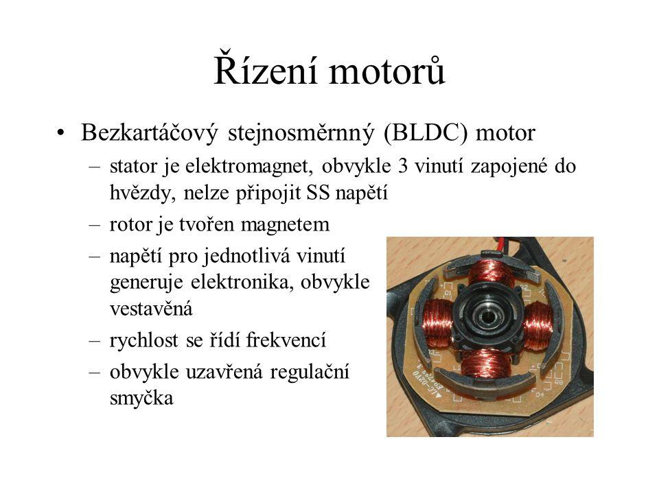 Řízení motorů Bezkartáčový stejnosměrnný (BLDC) motor