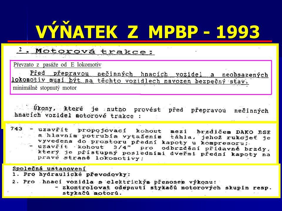 VÝŇATEK Z MPBP - 1993