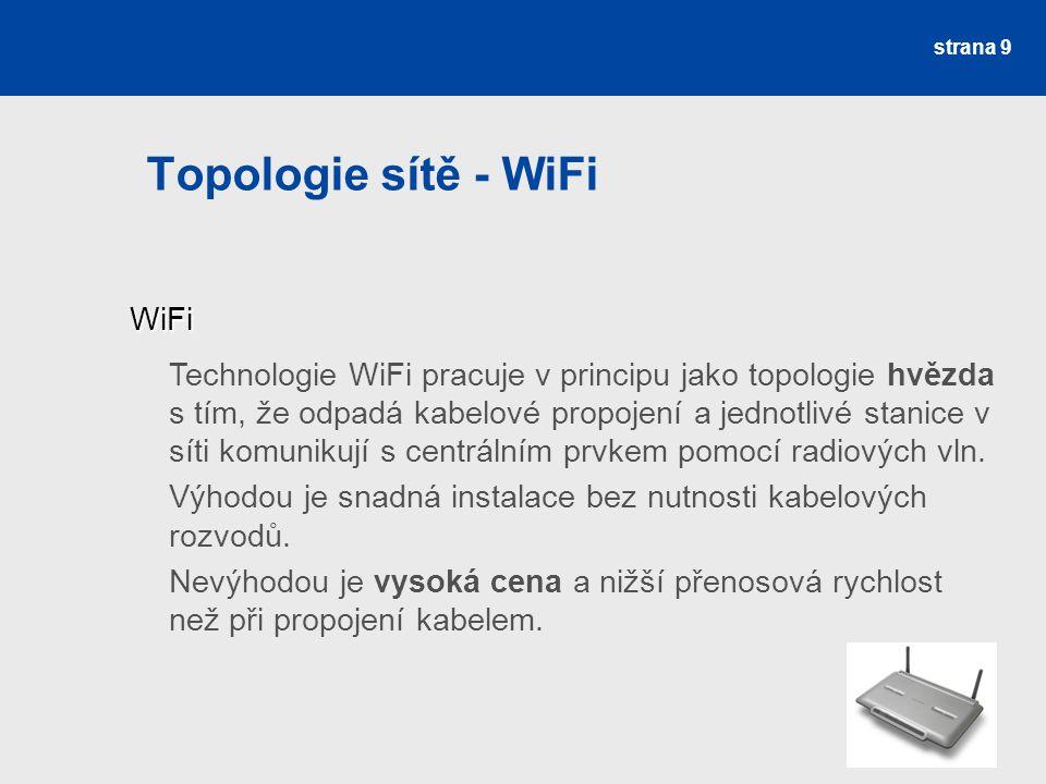 Topologie sítě - WiFi