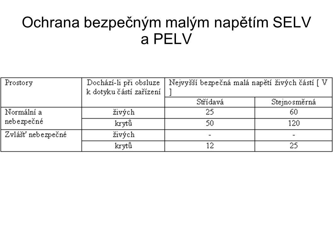 Ochrana bezpečným malým napětím SELV a PELV