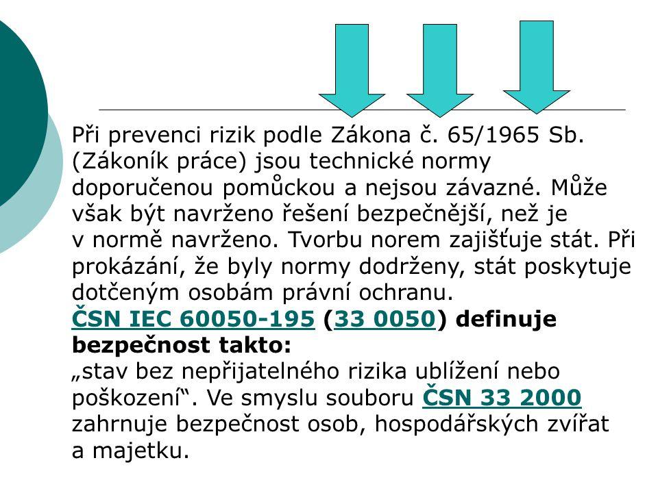 Při prevenci rizik podle Zákona č. 65/1965 Sb