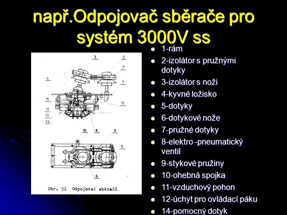 např.Odpojovač sběrače pro systém 3000V ss