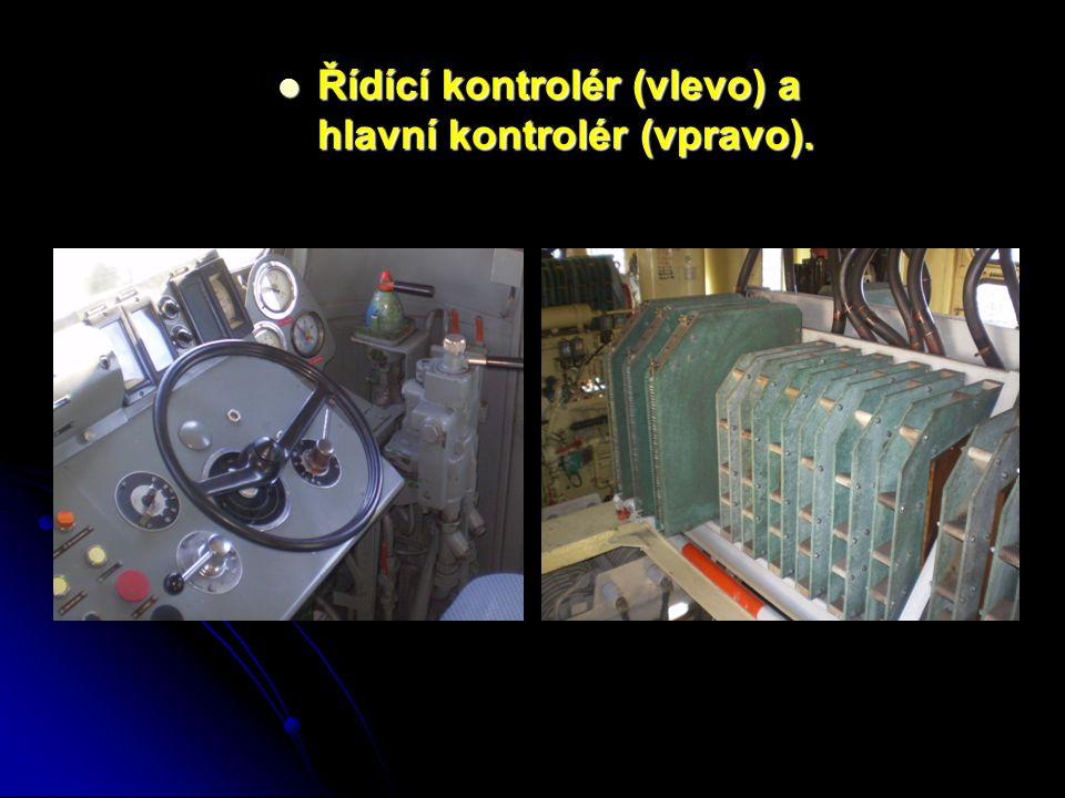 Řídící kontrolér (vlevo) a hlavní kontrolér (vpravo).