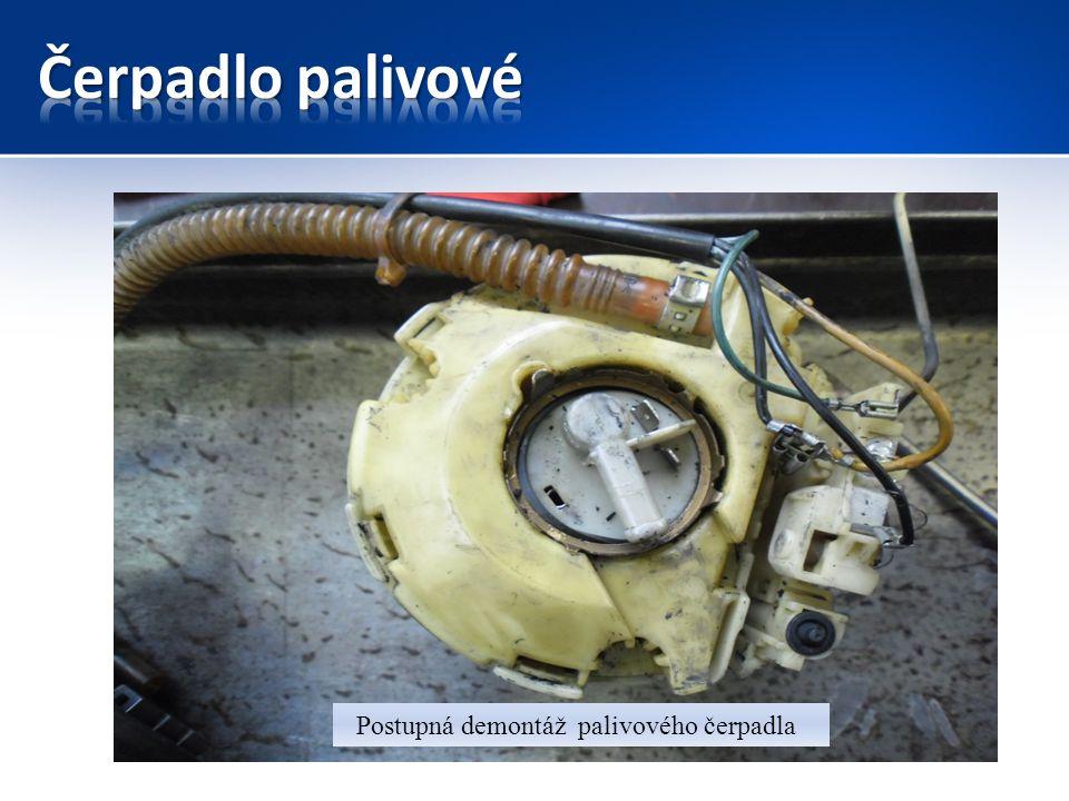 Čerpadlo palivové Postupná demontáž palivového čerpadla