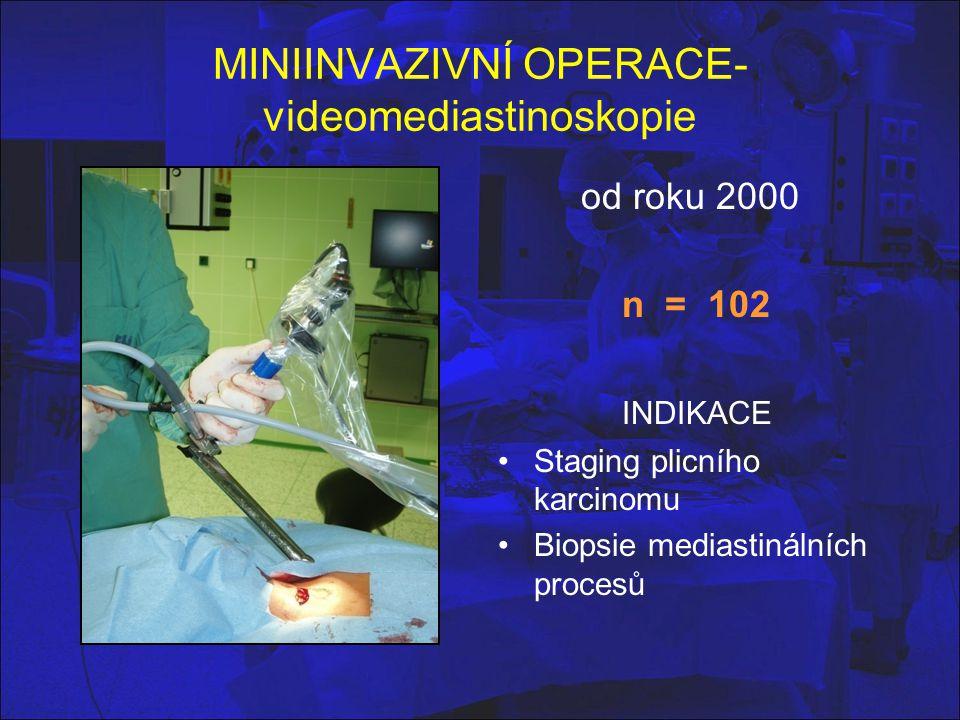MINIINVAZIVNÍ OPERACE-videomediastinoskopie