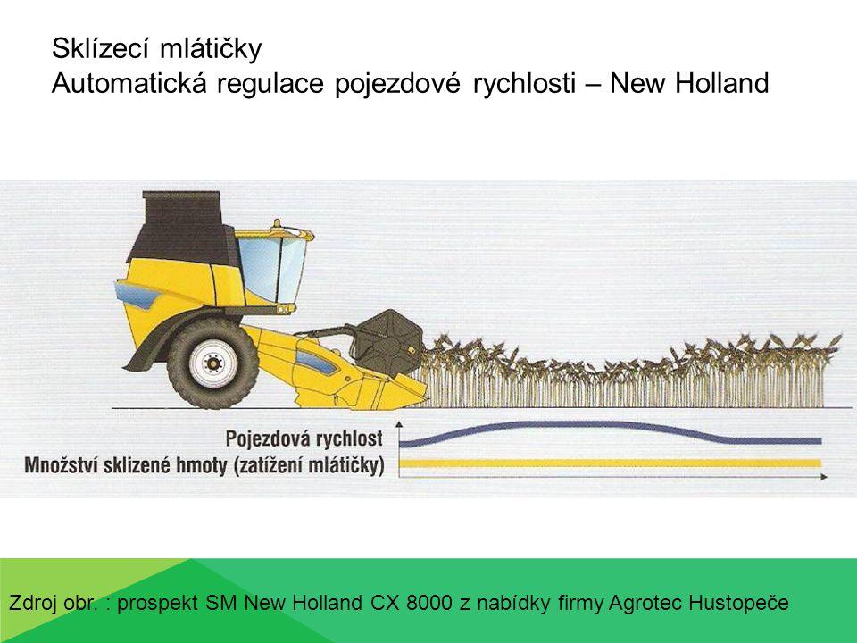Sklízecí mlátičky Automatická regulace pojezdové rychlosti – New Holland