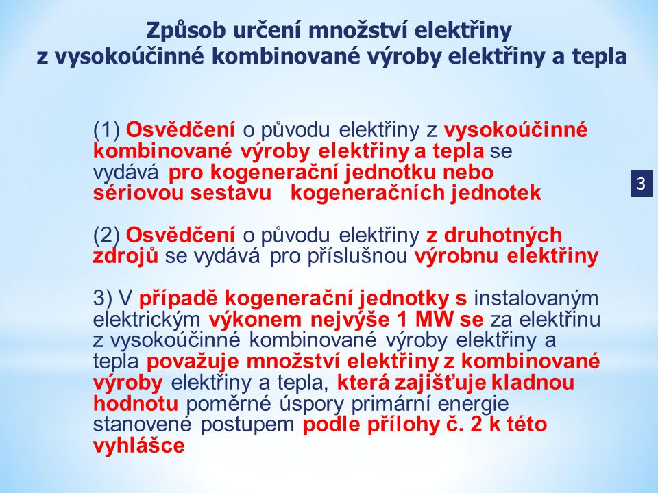 Způsob určení množství elektřiny