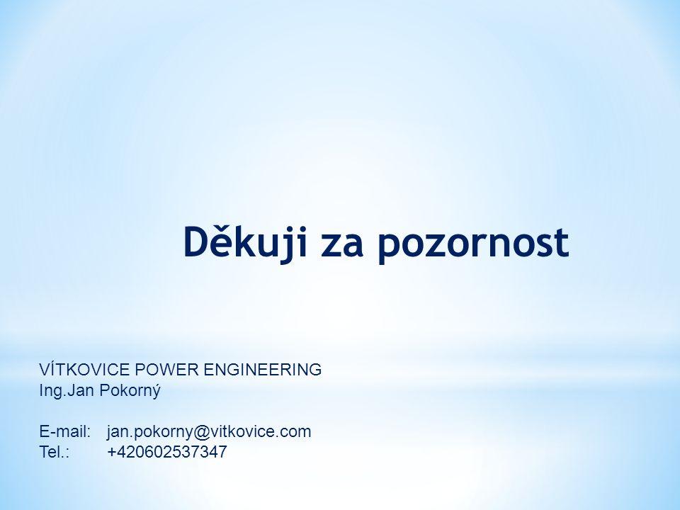 Děkuji za pozornost VÍTKOVICE POWER ENGINEERING Ing.Jan Pokorný
