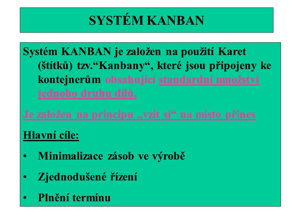 SYSTÉM KANBAN