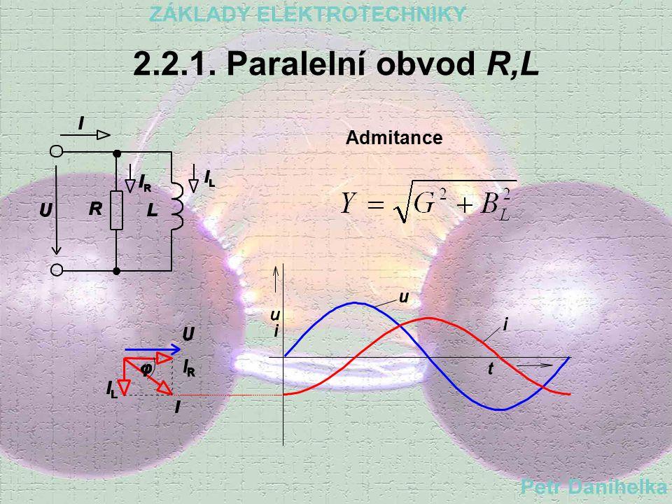 2.2.1. Paralelní obvod R,L Admitance