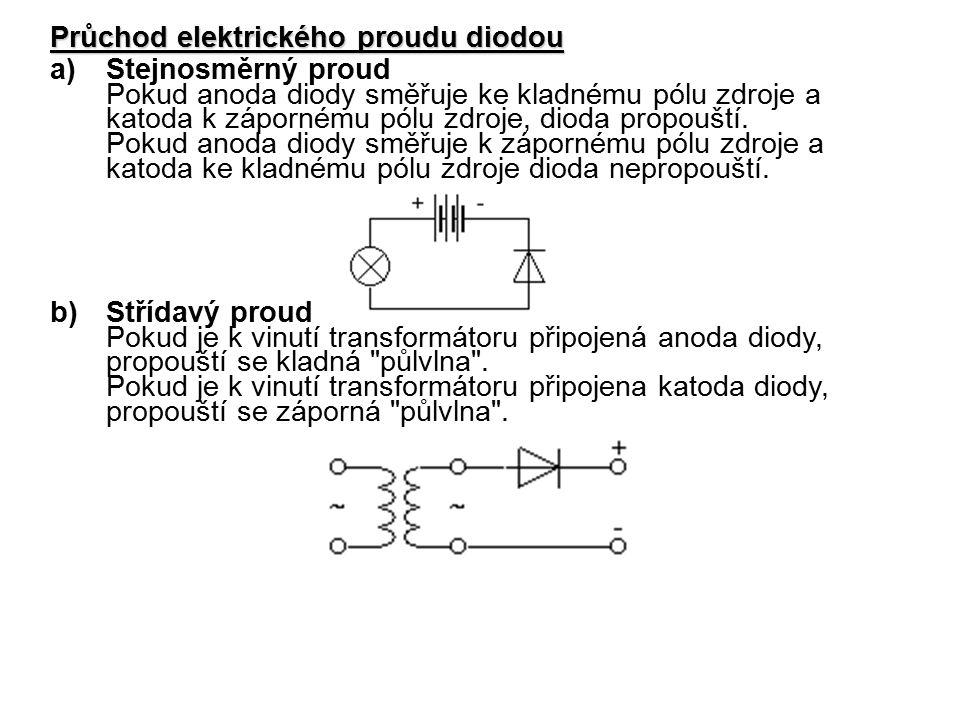 Průchod elektrického proudu diodou