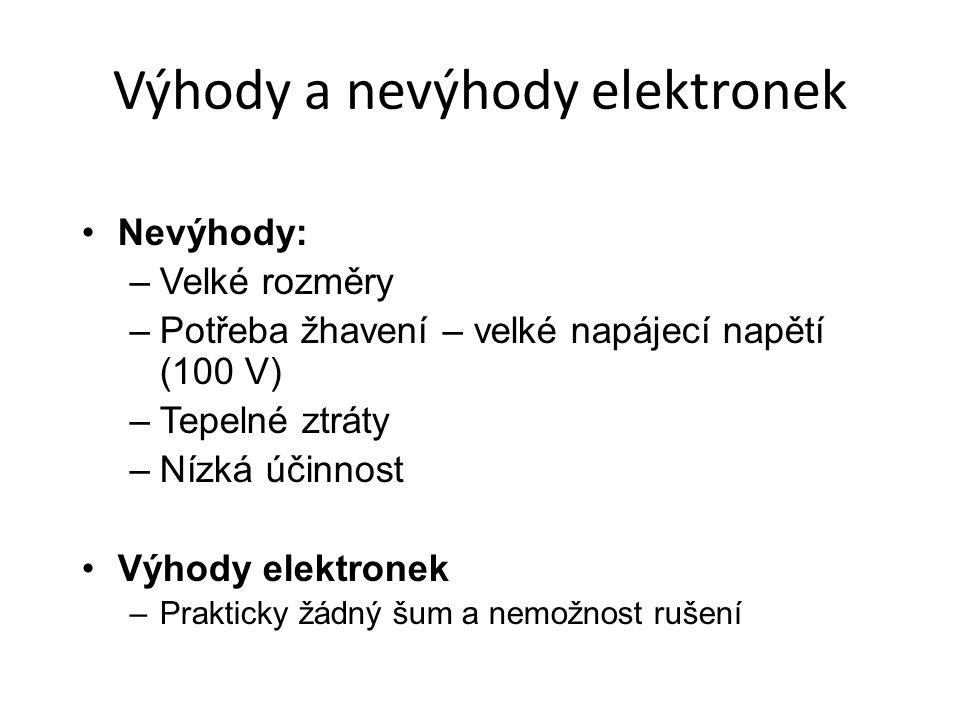 Výhody a nevýhody elektronek