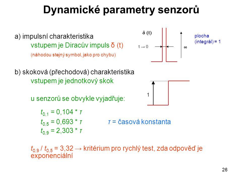 Dynamické parametry senzorů